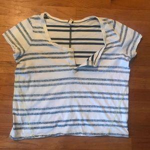 Free People striped  beach shirt